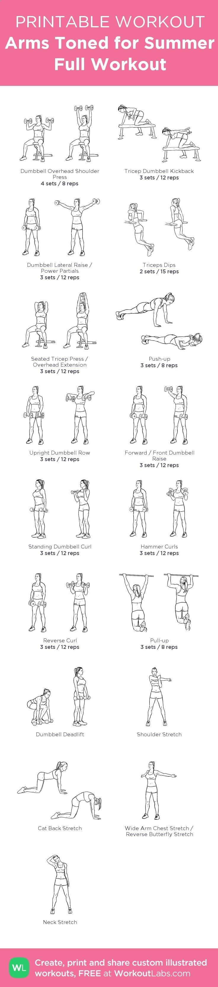 Arms Toned For Summer Full Workout My Custom Workout Created