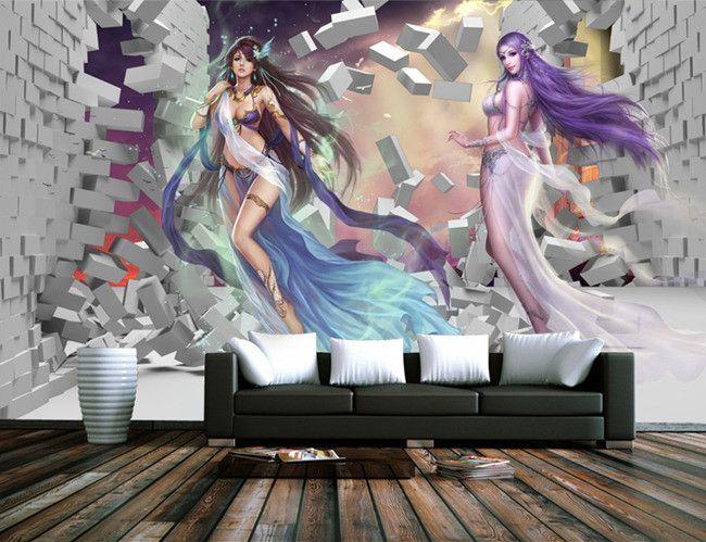 scène science-fiction papier peint fantaisie   Papier peint ...