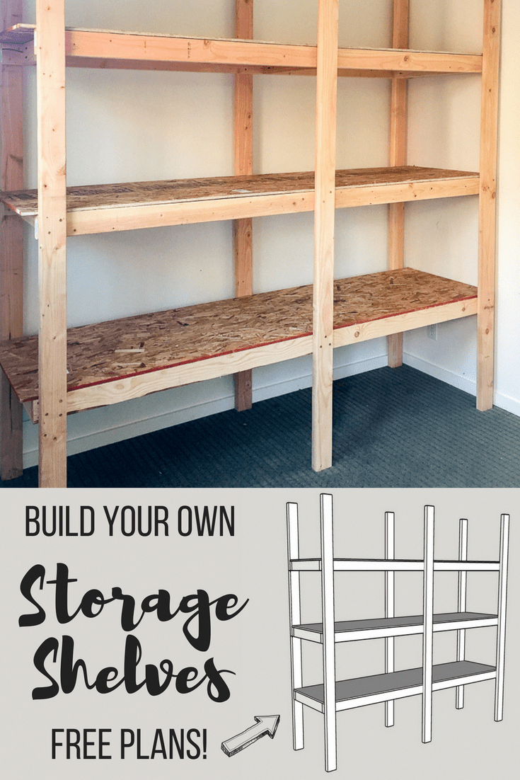 Learn How To Build Your Own Storage Shelves With Free Woodworking Plans From The Handyman S Daughter These S Diy Storage Shelves Cheap Storage Storage Shelves