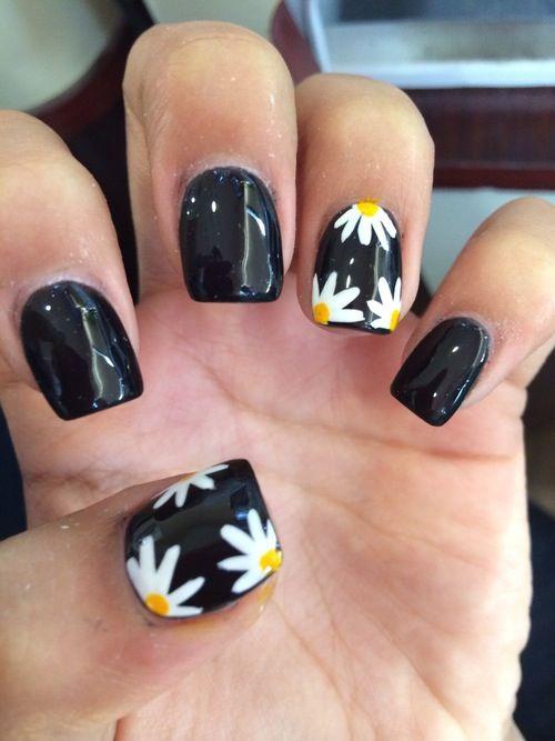 Daisy Nails Nails Pinterest Daisy Nails Makeup And Nail Nail