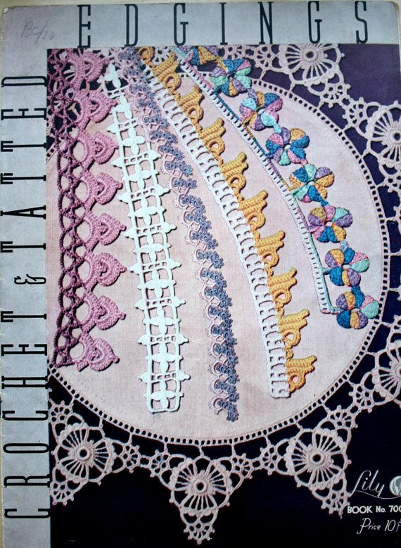 Crochet & Tatted Edgings Vintage Edging by baldyhillvintage, $15.00