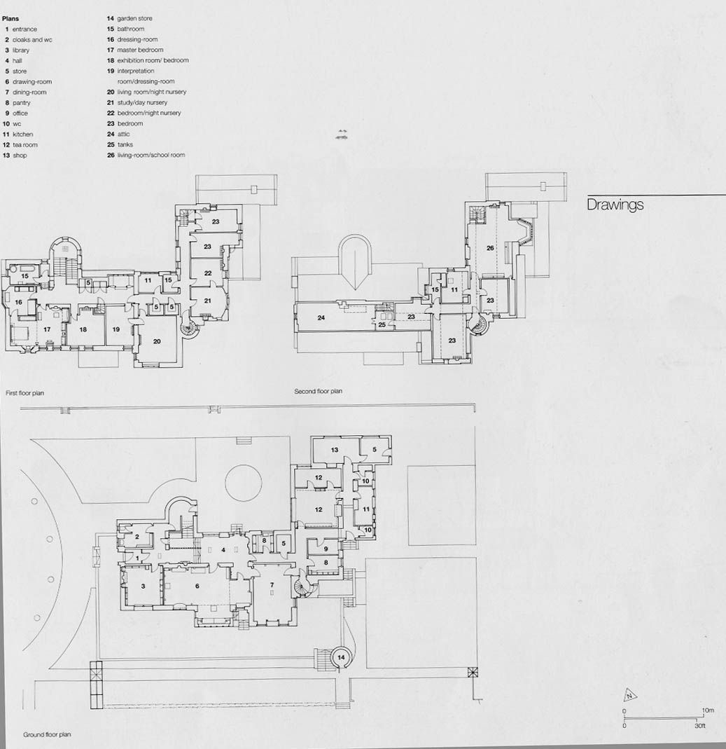 1st and 2nd floor plans of Hill House, Helensburgh (1902 ... Hill House Garden Plan on brighton house plan, garden cottage southern living house plans, garden view cottage house plan,