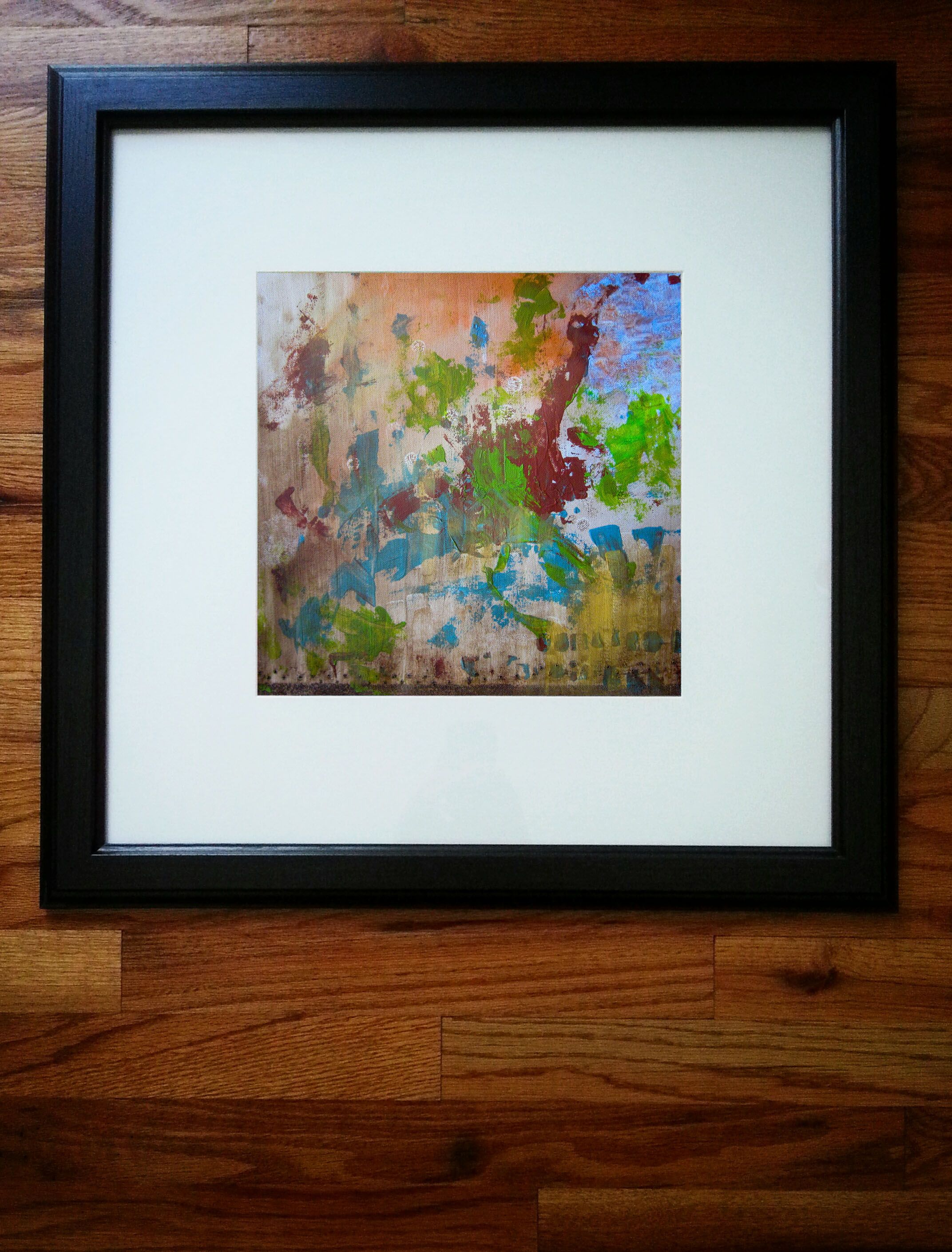 Oil and acrylic painting on Canvas. Frame size= 20 x 20 - $250 ...