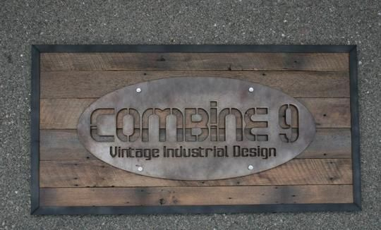 Custom Metal Decorative Signs Classy Custom Industrial Steel Signcombine 9  Hatchco  Custom Decorating Design