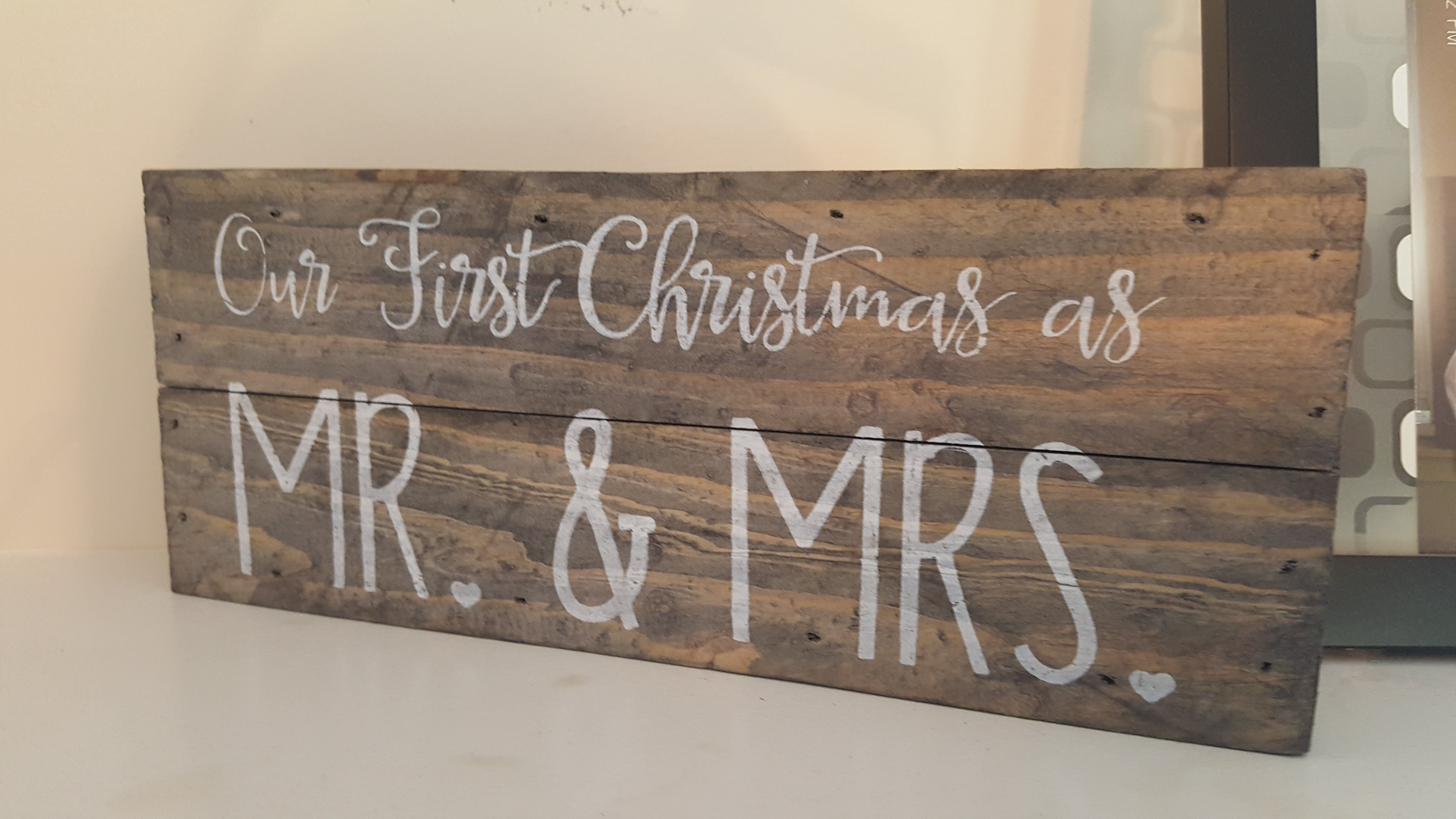 Wall art our first christmas as mr u mrs walls and craft