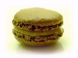 Chocolate, Dulce de Leche Macaron.