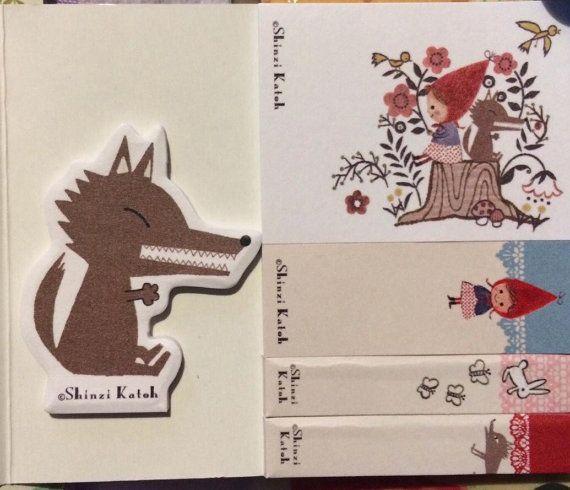 ON SALE: Shinzi Katoh Red Riding Hood Sticky Notes