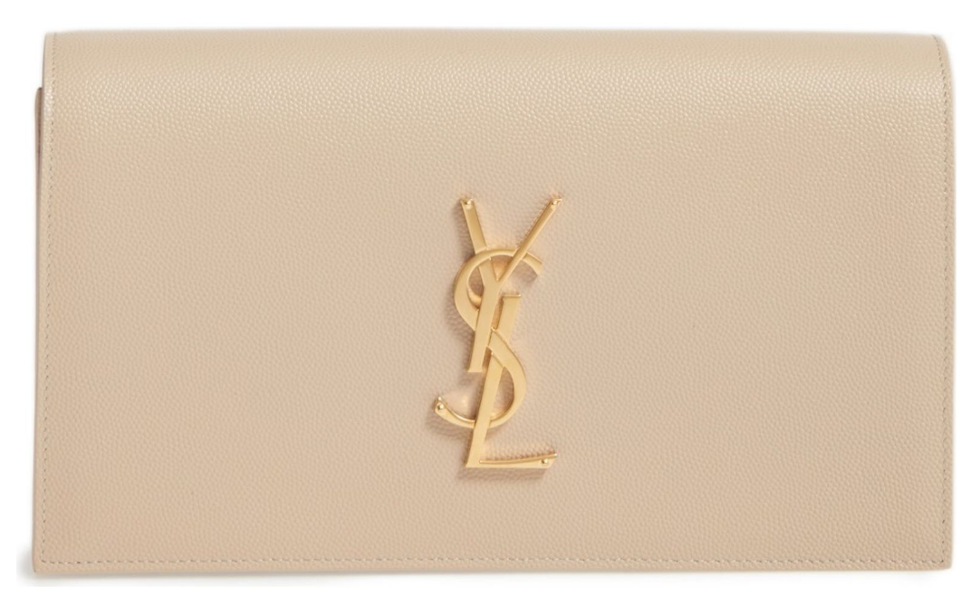YSL Monogram Leather Clutch