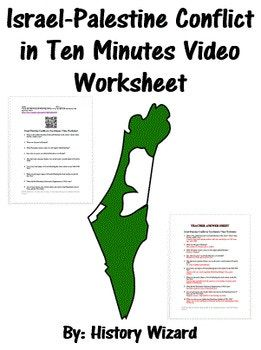 Israel Palestine Conflict In Ten Minutes Video Worksheet Geography Lesson Plans Israel Palestine Conflict Palestine