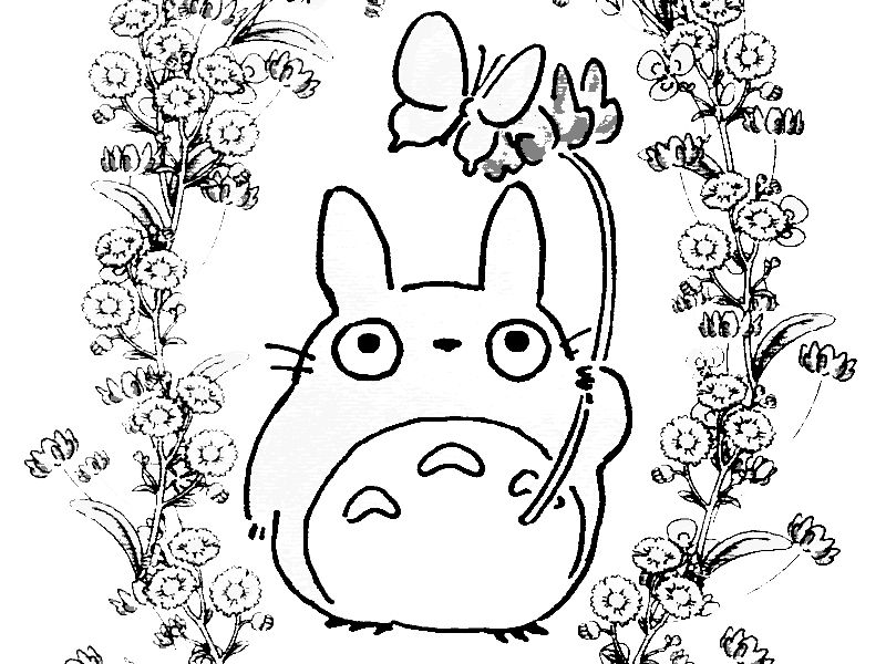 Totoro Coloring Pages Printable Coloring Books Coloring Pages Totoro
