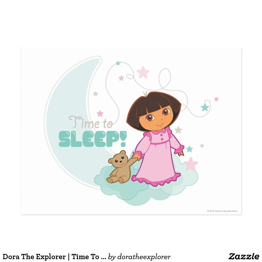 Dora The Explorer Time To Sleep Thank You Cards From Kids Dora The Explorer Dora [ 1106 x 1106 Pixel ]