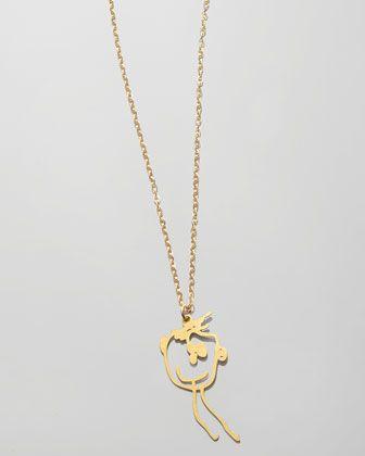 Brevity Custom Drawing Necklace 0nSydA