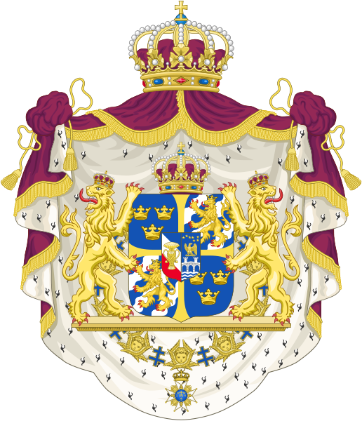 Greater Coat Of Arms Of Sweden Coat Of Arms History Of Sweden Sweden