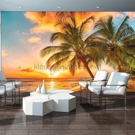Dusk beach fotobehang 3393-VE M Zon - Zee - Strand ...