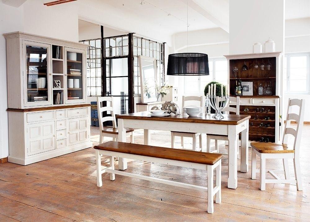 Esszimmer Landhaus Beppo Landhausmöbel Weiß Holz Kiefer Massiv
