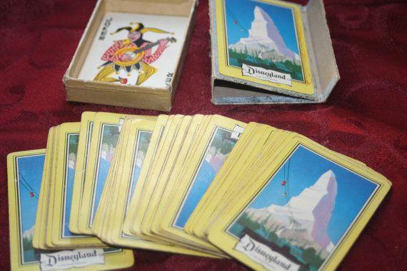 Vintage 50's Disneyland Player card deckVintage by Castawayacres