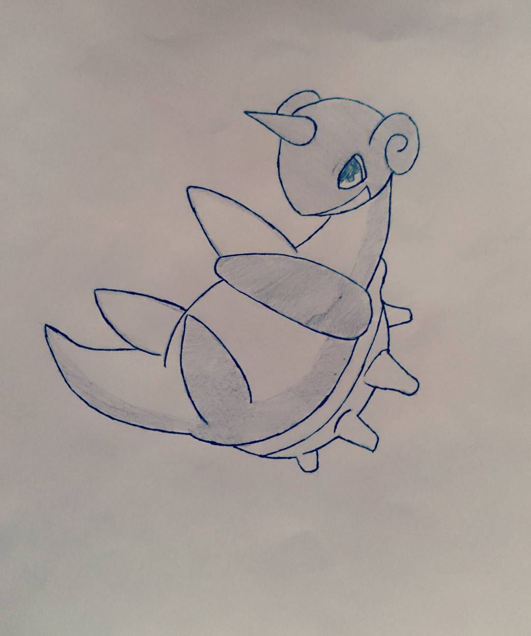 just stumble over a sketch of a Lapras ;^; from me :3 #pokemon