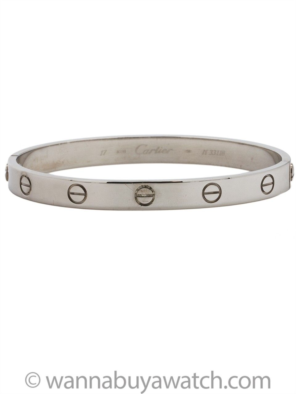 428458c2dc91b Cartier Love Bracelet 18K White Gold size 17 | Vintage and Modern ...