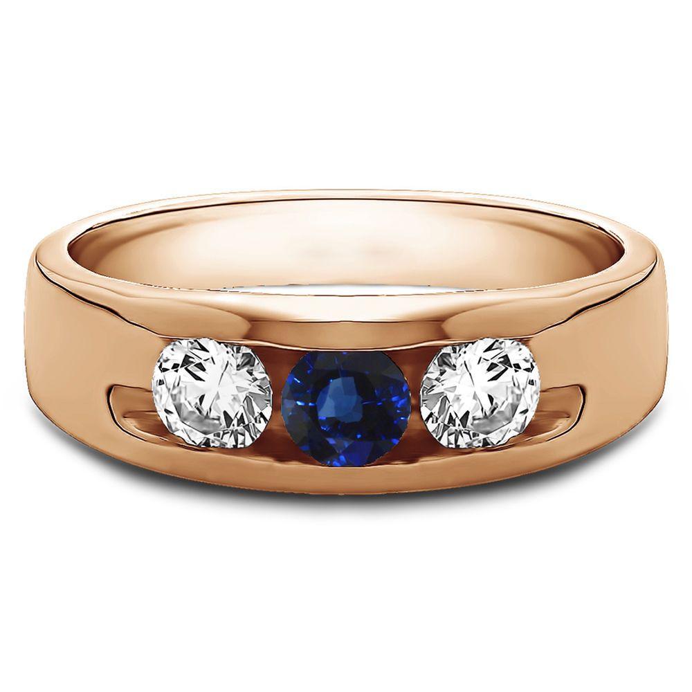 0.35 Ct Natural Diamond Mens Anniversary Ring 14K