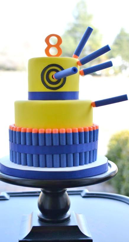 Nerf Gun Party Cake Cakes And Cupcakes For Kids Birthday