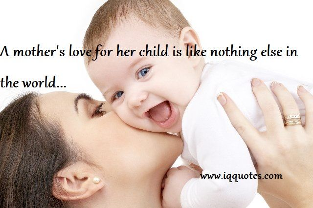 infant and mother relationship with children