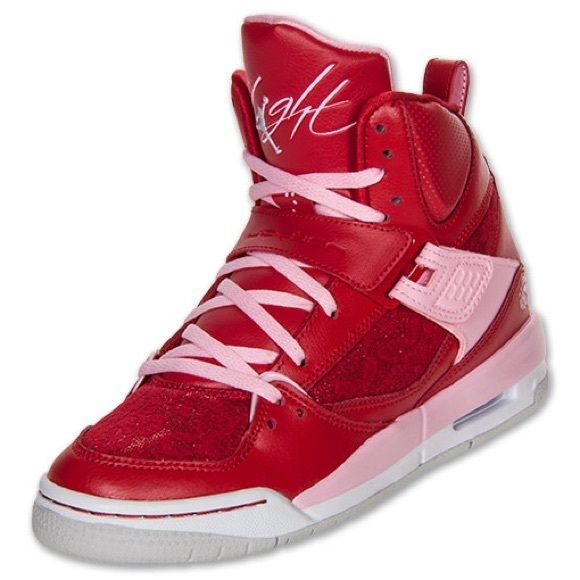 online retailer 55f1b d789b HOLD* RED PINK JORDANS FLIGHT 45 VALENTINES DAY Limited ...