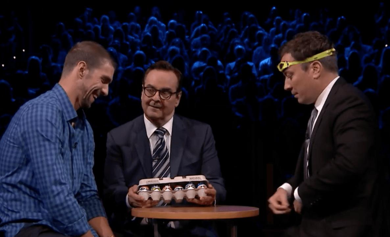 Egg Russian Roulette Michael Phelps vs. Jimmy Fallon