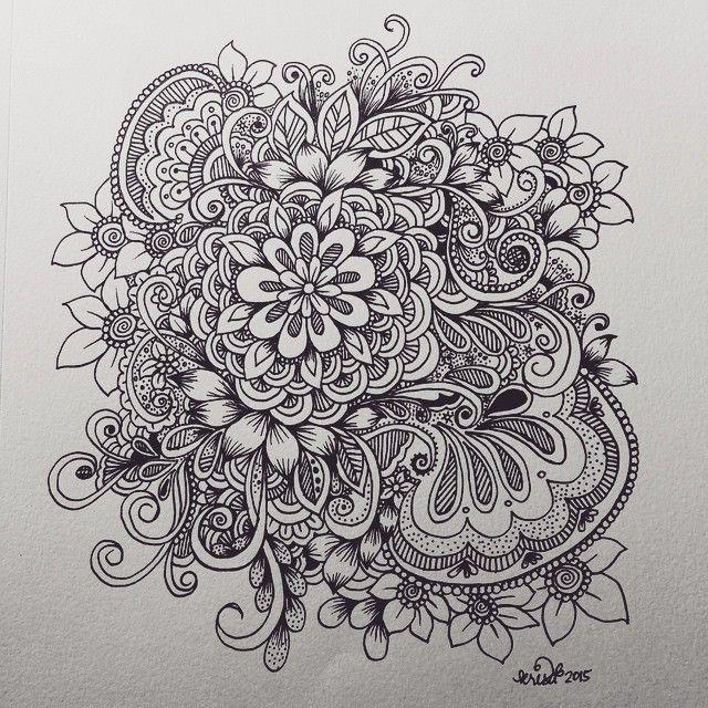 Line Art Zendoodle : Flower cluster doodle kcdoodleart pinterest doodles
