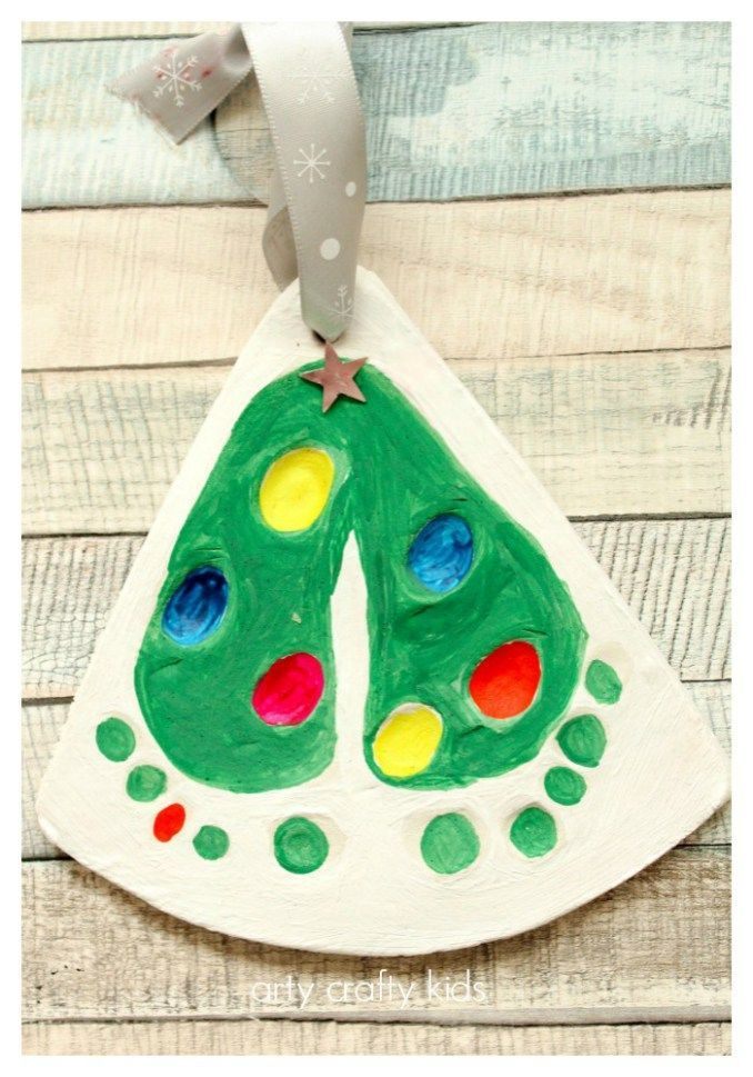 Baby Craft Ideas For Christmas Part - 36: Arty Crafty Kids - Craft - Christmas Crafts For Kids - Baby Footprints  Christmas Tree