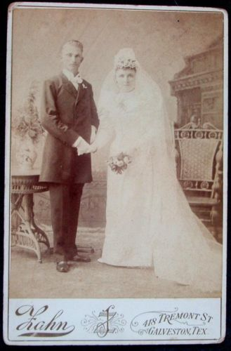 Bride Groom Cabinet Photo by Hahn Late 1800's Quite A Pair Take A Look | eBay