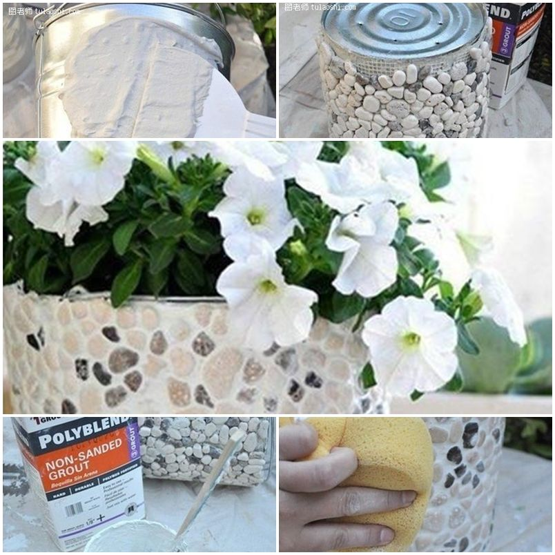 How to make decorational flower pot step by step DIY instructions thumb