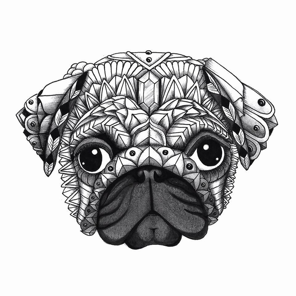 30 Doug The Pug Coloring Book Pug Art Dog Art