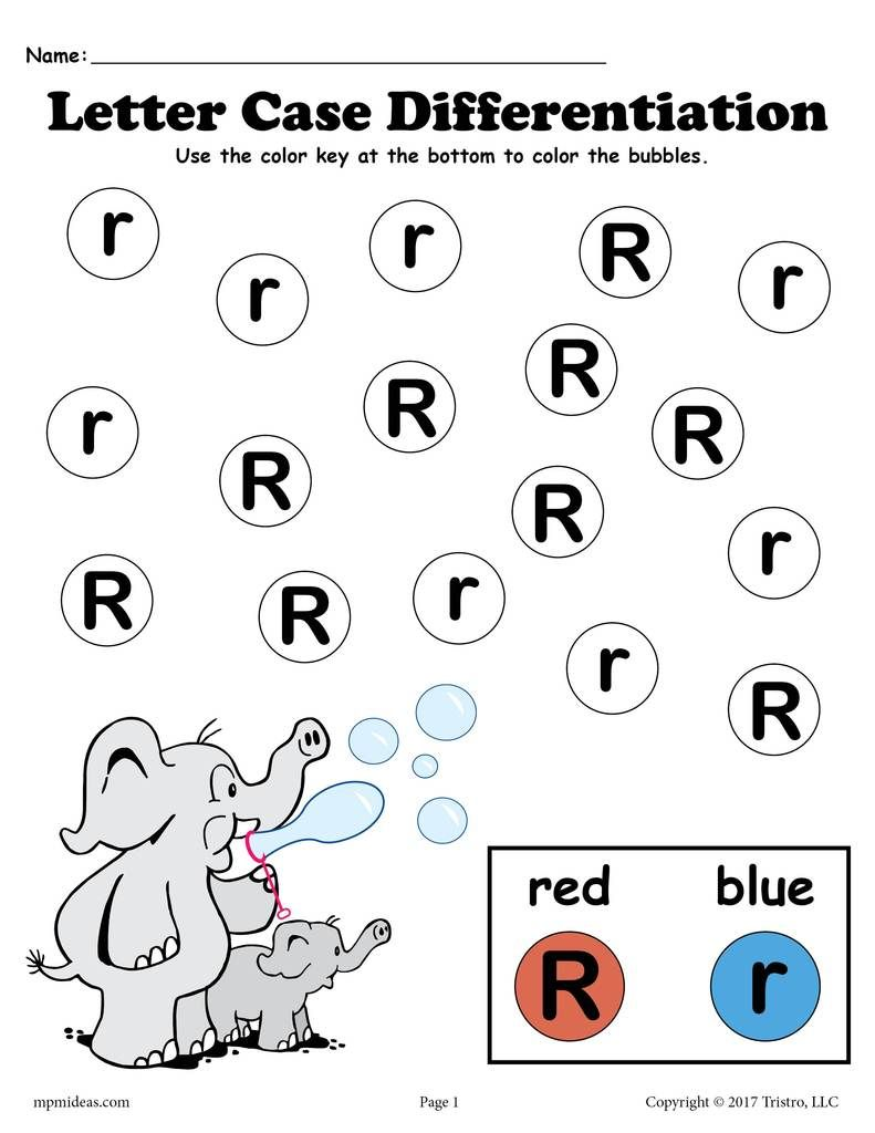 Letter R Do A Dot Printables For Letter Case Differentiation Practice Letter R Activities For Kindergarten Preschool Letters Letter R Activities
