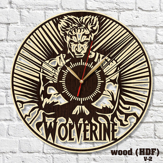 X Men Clock Wooden Clock Hdf Clock Acrylic Clock Housewarming Gift