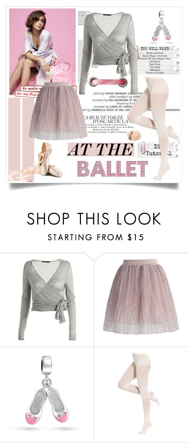 """Lily Collins - At the Ballet ♥"" by tvdsarahmichele ❤ liked on Polyvore featuring Twenty, Chicwish, Bling Jewelry and DKNY"