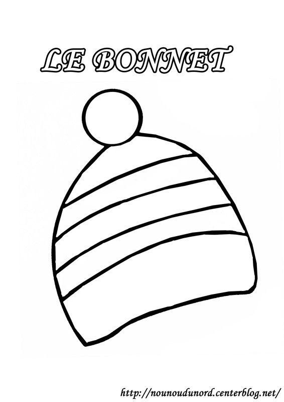 Nounoudunord Coloriage Bonhomme De Neige.Coloriage Bonnet Dessine Par Nounoudunord Activites Enfants