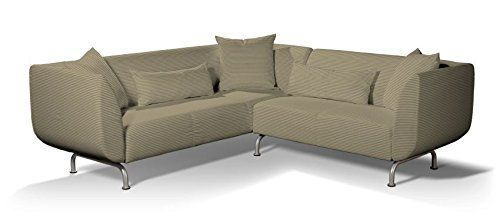 Dekoria Fire Ing Ikea Stromstad 3 2 Seater Corner Sofa Cover Olive And Beige Stripes Co Uk Kitchen Home