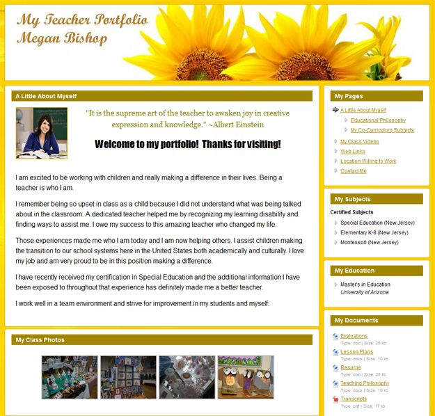 A Totally Free Website For Creating E Portfolios Exclusively For Teachers Teacher Portfolio Online Teaching Portfolio Online Teacher Portfolio