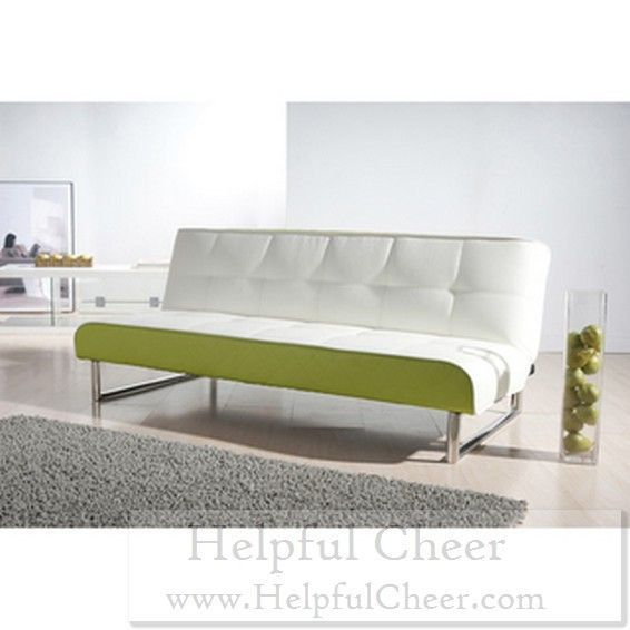 Seattle White And Green Futon Sofa Bed With Images Futon Sofa