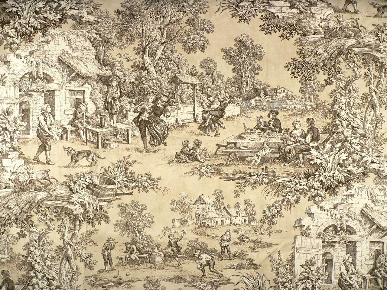 Toile - so beautiful and so underappreciated.  I appreciate toile.