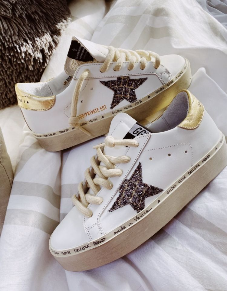Hi Star sneakers in white with laminated logo