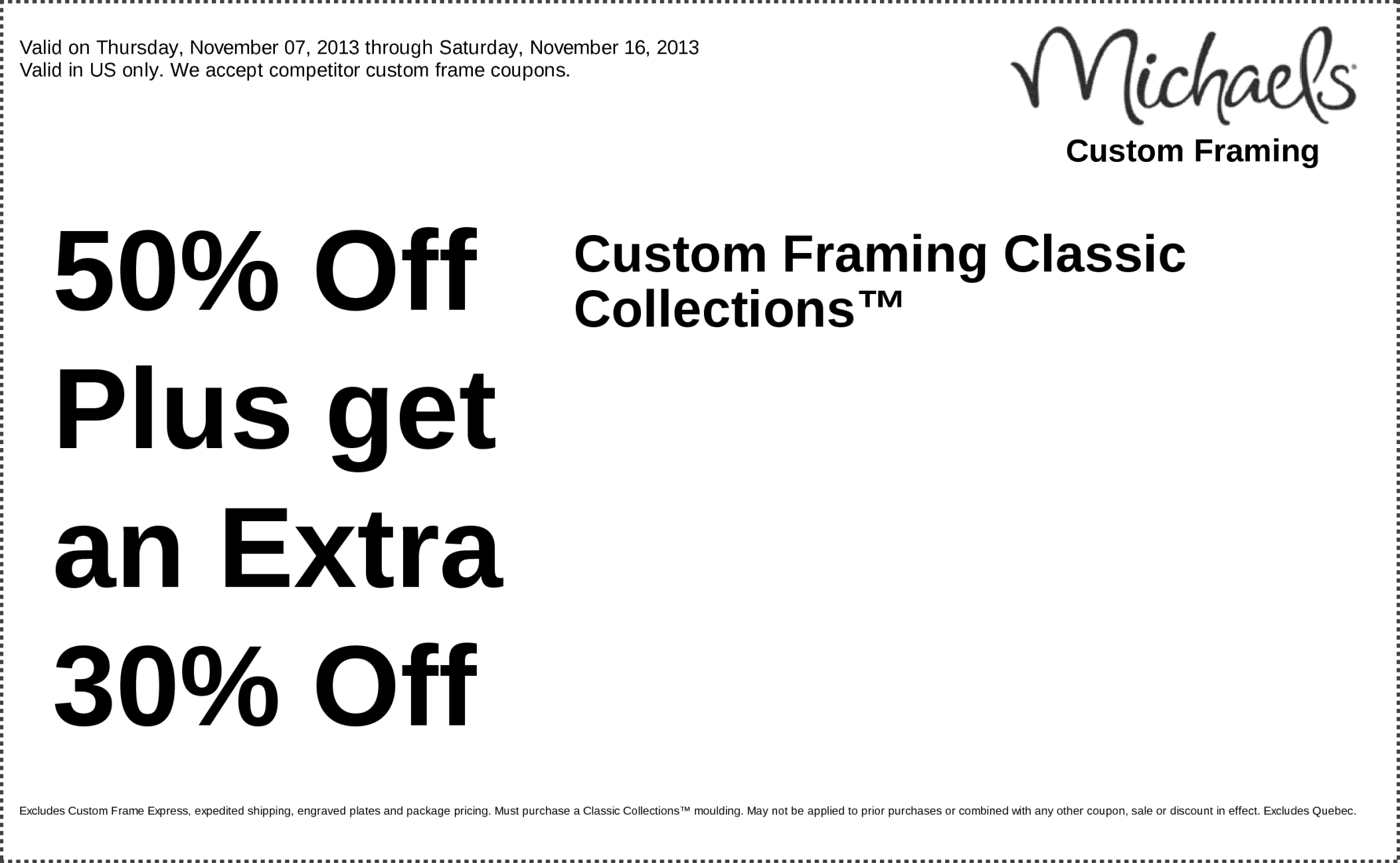 michaels coupons custom framing 60 off plus get an extra 15 off entire custom framing order httpswwwfac pinteres - Michaels Frame Coupon