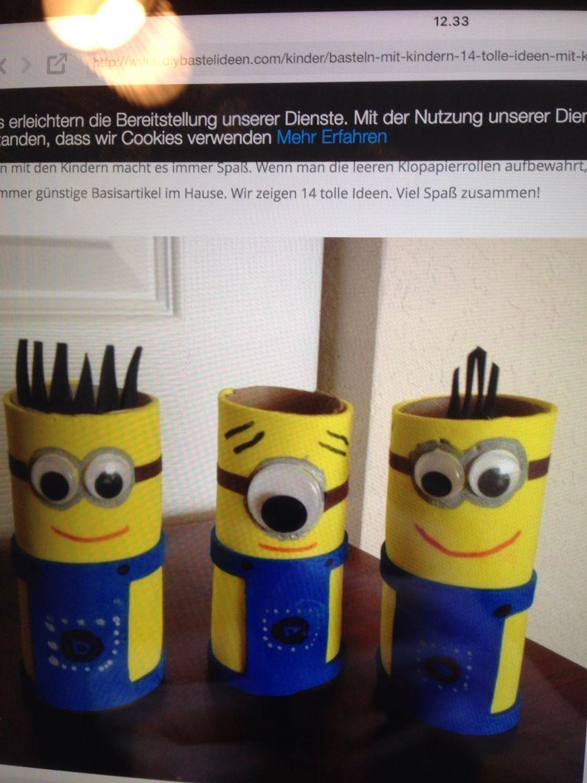 Tidssvarende Toiletruller   minion party   Billedkunst, Kreativ og Kreative ideer KA-84