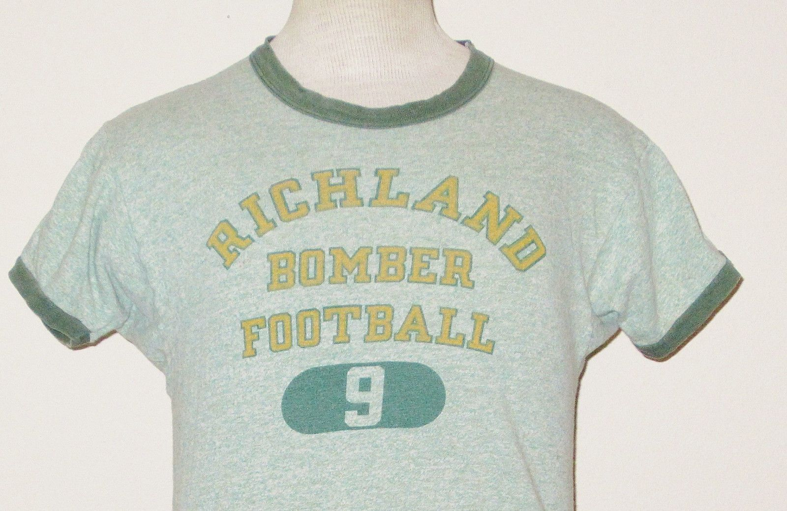 Vtg 50's Champion Richland Bombers Football Ringer Athletic Small T Shirt | eBay