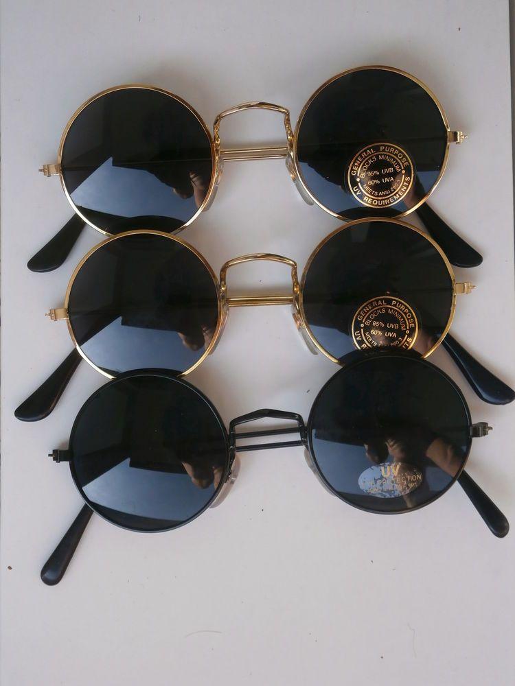 3er Set Sonnenbrillen im 70er Jahre Stil Hippie Goa Brillen 70s 60er rund 70  nr2 · GoaRiesenHerrinMens SunglassesSunglassesMetalStyle e8e835c15867