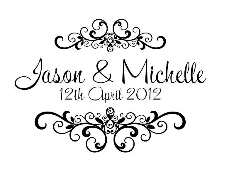 Personalized Wedding Rubber Stamps
