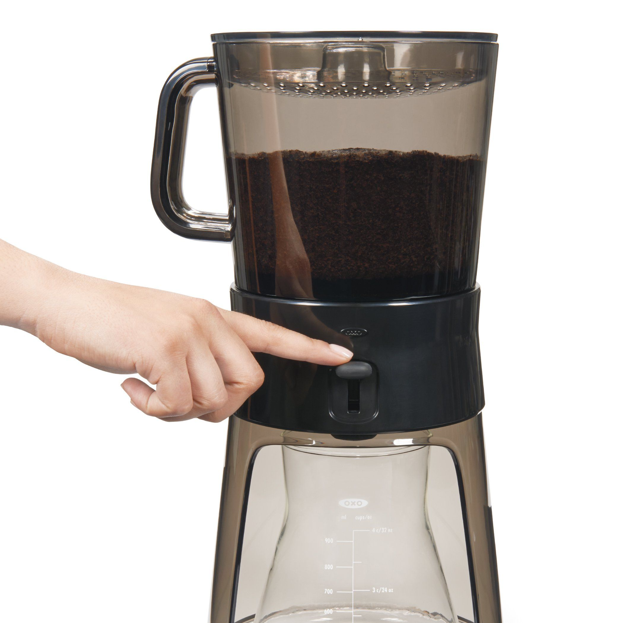 Oxo good grips cold brew coffee maker ounces with paper