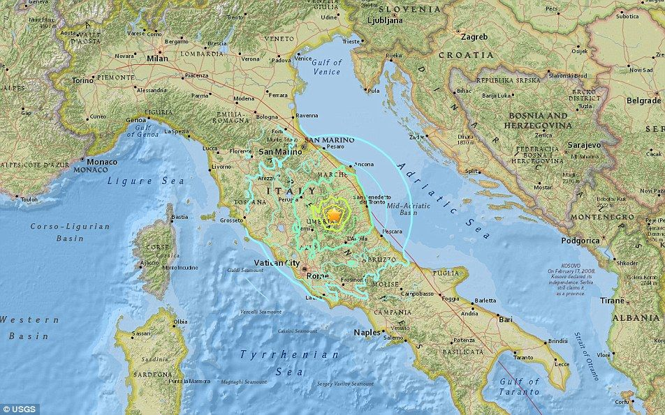 At least 250 dead after 62 magnitude earthquake rocks central Italy