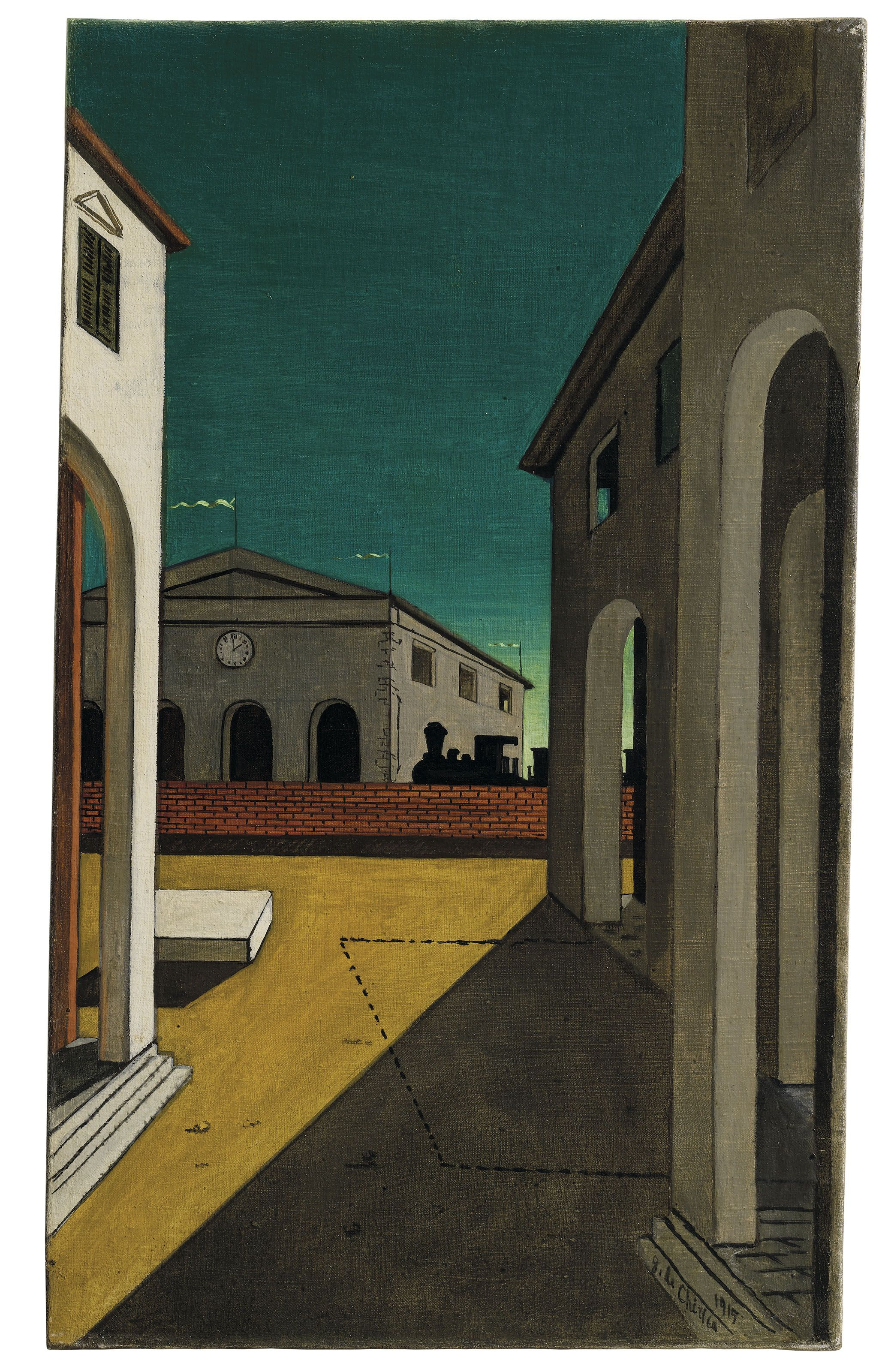 Giorgio de Chirico (1888-1978) Malinconia torinese Estimate GBP 275,000 - GBP 375,000 (USD 350,625 - USD 478,125)