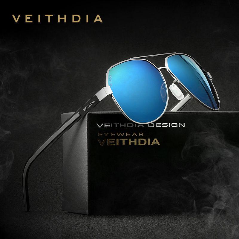 2115b8ae17a VEITHDIA Men s Sunglasses Polarized Blue Coating Mirror Driving Aluminum  Magnesium Sun Glasses Accessories For Men shades